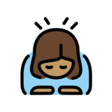 Woman Bowing: Medium Skin Tone on OpenMoji 12.2
