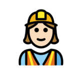 Woman Construction Worker: Light Skin Tone on OpenMoji 12.2