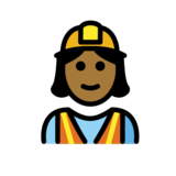 Woman Construction Worker: Medium-Dark Skin Tone on OpenMoji 12.2