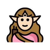 Woman Elf: Light Skin Tone on OpenMoji 12.2