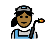 Woman Factory Worker: Medium-Dark Skin Tone on OpenMoji 12.2