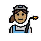 Woman Factory Worker: Medium Skin Tone on OpenMoji 12.2