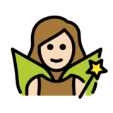 Woman Fairy: Light Skin Tone on OpenMoji 12.2