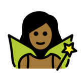 Woman Fairy: Medium-Dark Skin Tone on OpenMoji 12.2