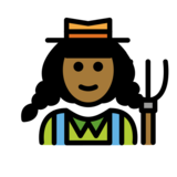Woman Farmer: Medium-Dark Skin Tone on OpenMoji 12.2