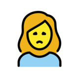 Woman Frowning on OpenMoji 12.2