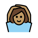Woman Gesturing OK: Medium Skin Tone on OpenMoji 12.2