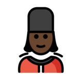 Woman Guard: Dark Skin Tone on OpenMoji 12.2