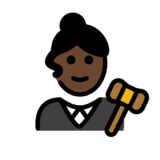 Woman Judge: Dark Skin Tone on OpenMoji 12.2