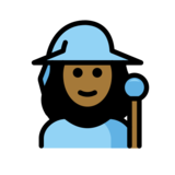 Woman Mage: Medium-Dark Skin Tone on OpenMoji 12.2