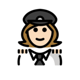 Woman Pilot: Light Skin Tone on OpenMoji 12.2