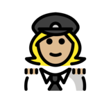 Woman Pilot: Medium-Light Skin Tone on OpenMoji 12.2