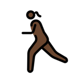 Woman Running: Dark Skin Tone on OpenMoji 12.2