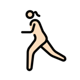 Woman Running: Light Skin Tone on OpenMoji 12.2