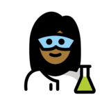 Woman Scientist: Medium-Dark Skin Tone on OpenMoji 12.2