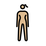 Woman Standing: Medium-Light Skin Tone on OpenMoji 12.2