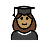 Woman Student: Medium Skin Tone on OpenMoji 12.2