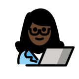 Woman Technologist: Dark Skin Tone on OpenMoji 12.2