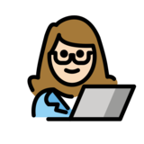 Woman Technologist: Light Skin Tone on OpenMoji 12.2