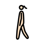 Woman Walking: Light Skin Tone on OpenMoji 12.2