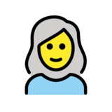 Woman: White Hair on OpenMoji 12.2
