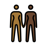 Women Holding Hands: Medium-Dark Skin Tone, Dark Skin Tone on OpenMoji 12.2