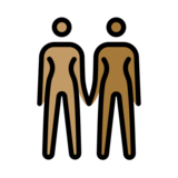 Women Holding Hands: Medium Skin Tone, Medium-Dark Skin Tone on OpenMoji 12.2