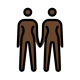 Women Holding Hands: Dark Skin Tone on OpenMoji 12.2