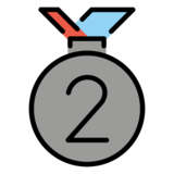 2nd Place Medal on OpenMoji 12.3