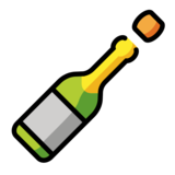 Bottle with Popping Cork on OpenMoji 12.3