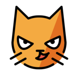 Cat with Wry Smile on OpenMoji 12.3
