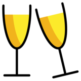 Clinking Glasses on OpenMoji 12.3