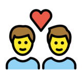 Couple with Heart: Man, Man on OpenMoji 12.3
