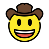 Cowboy Hat Face on OpenMoji 12.3