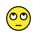 Face with Rolling Eyes on OpenMoji 12.3
