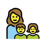 Family: Woman, Girl, Boy on OpenMoji 12.3