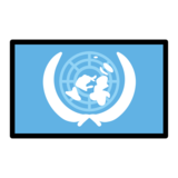 Flag: United Nations on OpenMoji 12.3