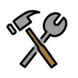 Hammer and Wrench on OpenMoji 12.3