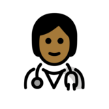 Health Worker: Medium-Dark Skin Tone on OpenMoji 12.3