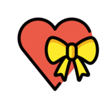 Heart with Ribbon on OpenMoji 12.3