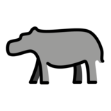 Hippopotamus on OpenMoji 12.3