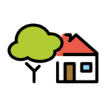 House with Garden on OpenMoji 12.3