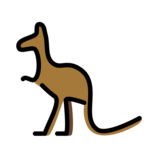 Kangaroo on OpenMoji 12.3
