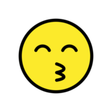 Kissing Face with Smiling Eyes on OpenMoji 12.3
