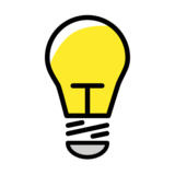Light Bulb on OpenMoji 12.3