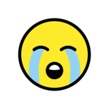 Loudly Crying Face on OpenMoji 12.3