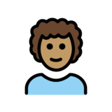 Man: Medium Skin Tone, Curly Hair on OpenMoji 12.3