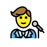 Man Singer on OpenMoji 12.3