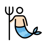 Merman: Light Skin Tone on OpenMoji 12.3