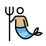 Merman: Medium-Light Skin Tone on OpenMoji 12.3
